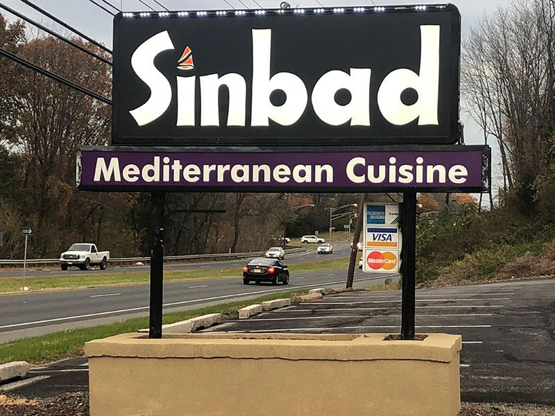 Sinbad Mediterranean Cuisine exterior sign